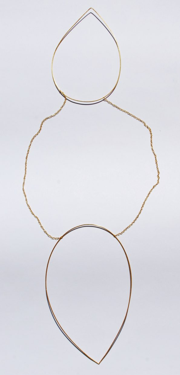 Double Teardrop short necklace